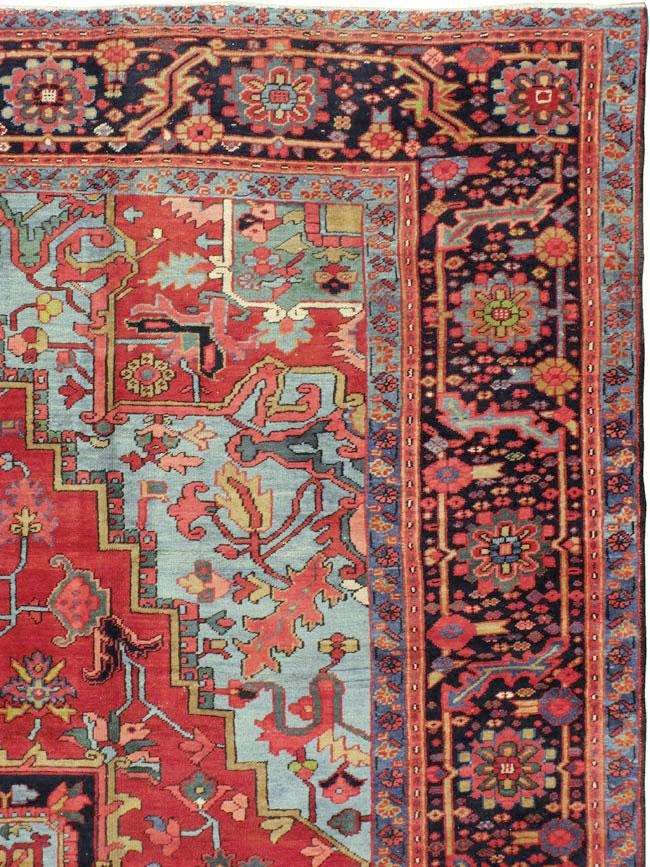 Antique Persian Heriz Carpet, No.10926 - Galerie Shabab