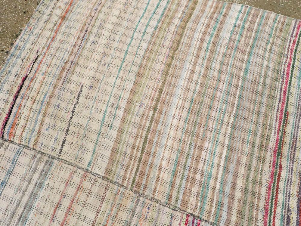 Vintage American Rag Rug No 14840