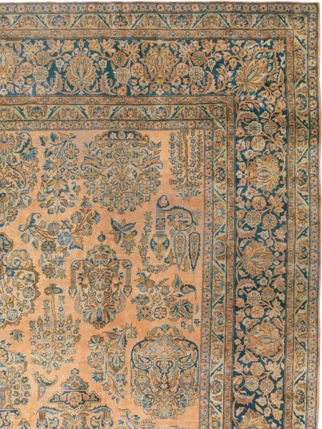 Antique Persian Kashan Carpet, No.14853 - Galerie Shabab