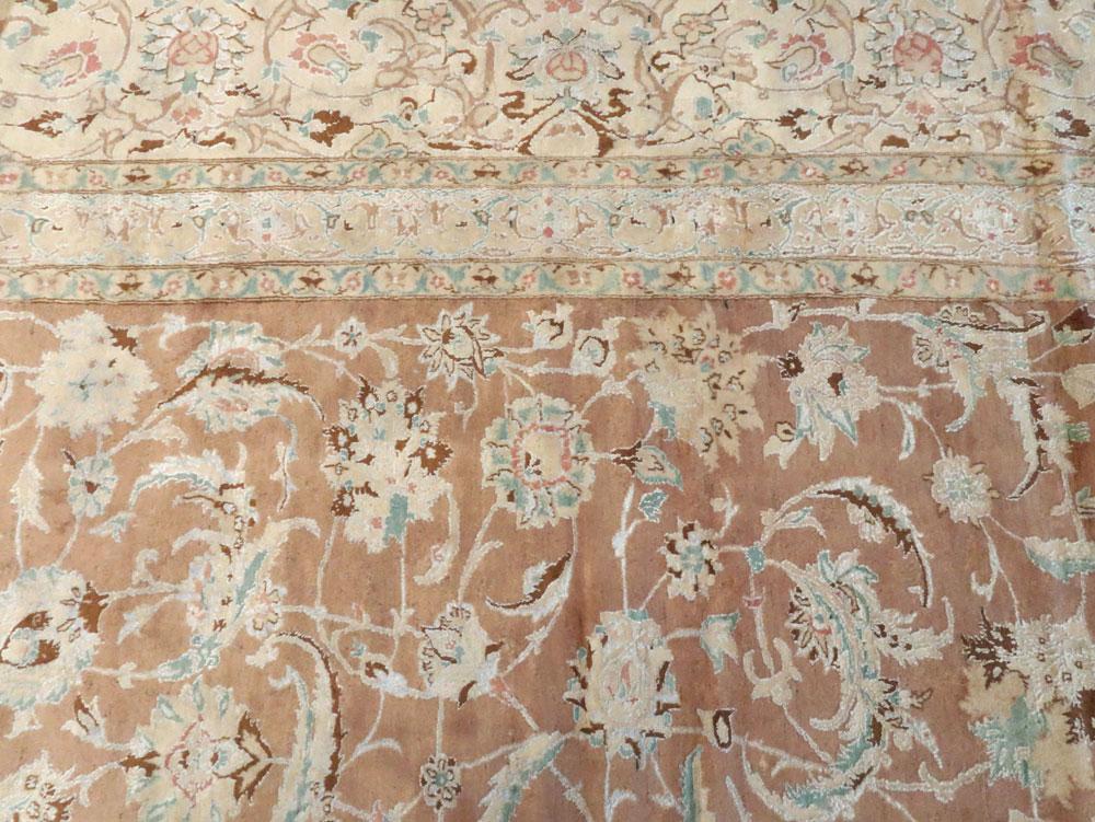 Vintage Persian Nain Carpet, No.17092 - Galerie Shabab