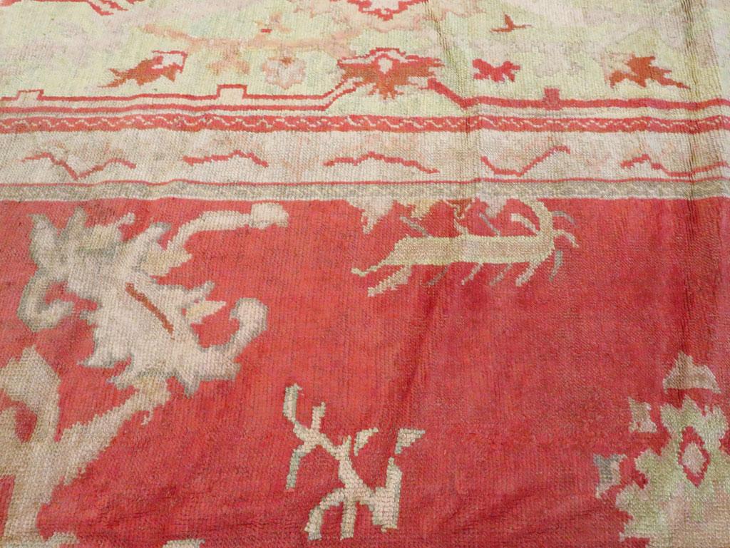 Antique Turkish Oushak Square Carpet, No.17245 - Galerie Shabab