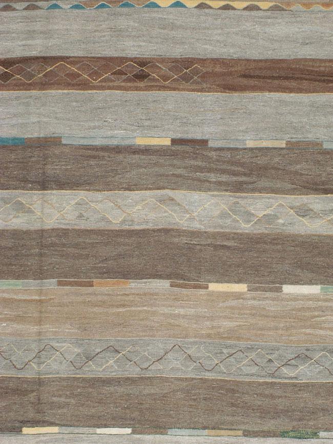 Modern Turkish Flat Weave Carpet No 17370