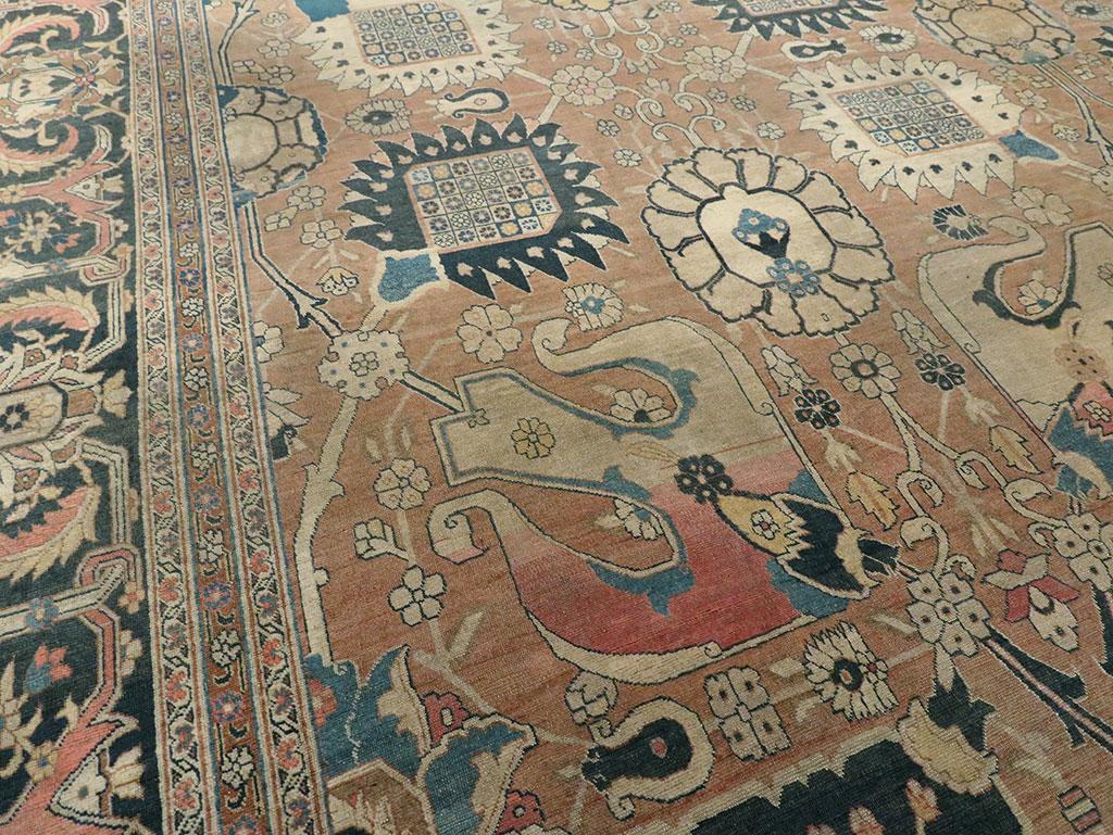 Antique Persian Tabriz Hagi Jalili Carpet, No.17551 - Galerie Shabab