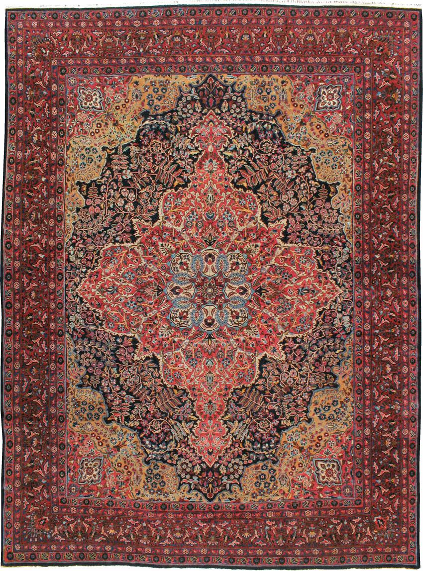 Antique Persian Sarouk Carpet, No.18387 - Galerie Shabab