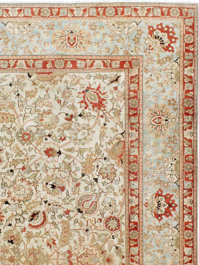 Antique Persian Tabriz Carpet, No.20357 - Galerie Shabab