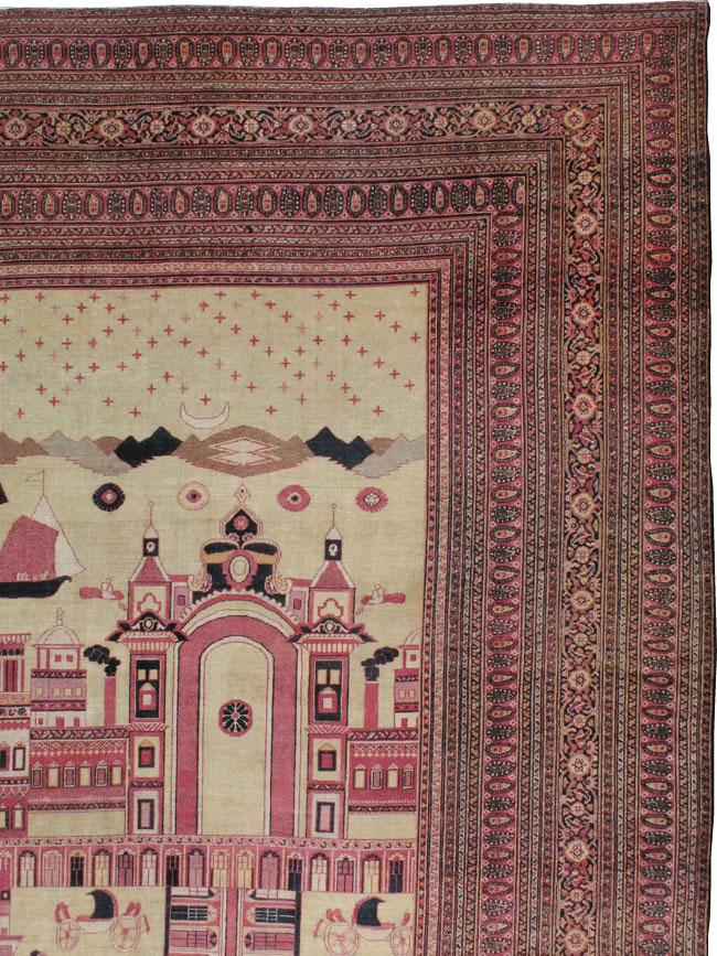 Antique Dorokhsh Pictorial Carpet, No.20362 - Galerie Shabab