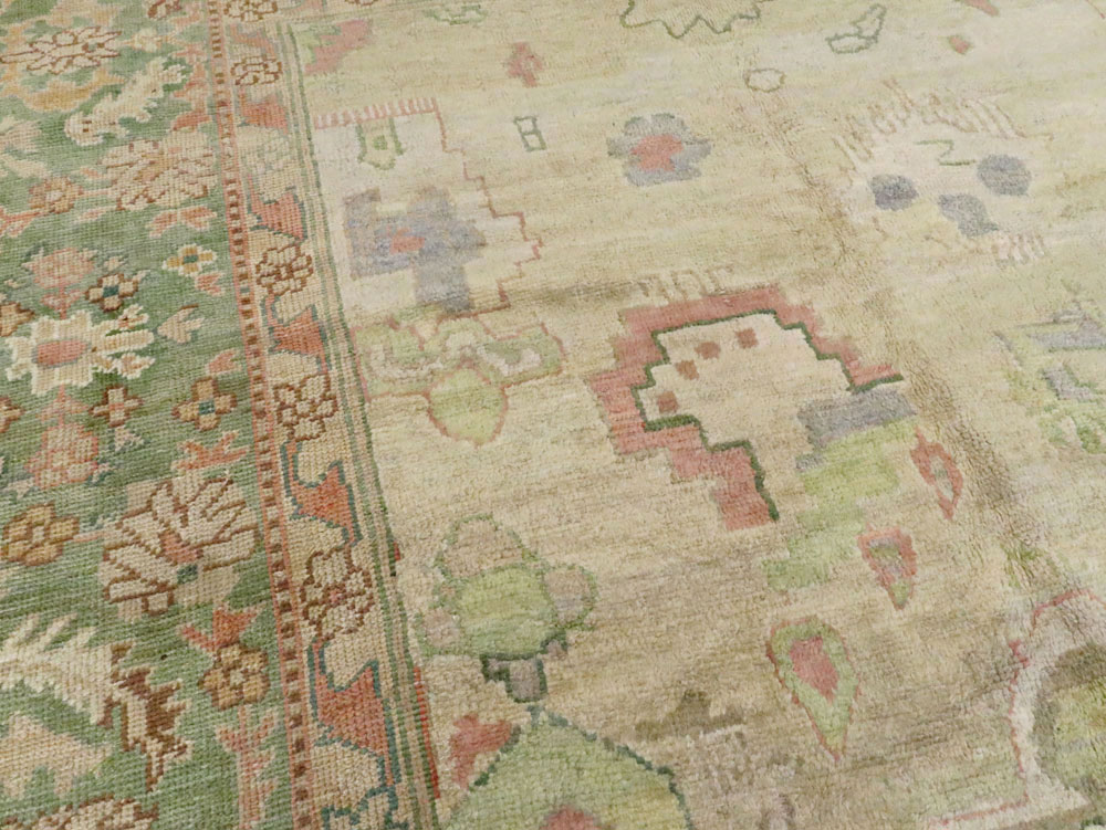 Vintage Turkish Oushak Large Room Size Carpet, No.20585 - Galerie Shabab