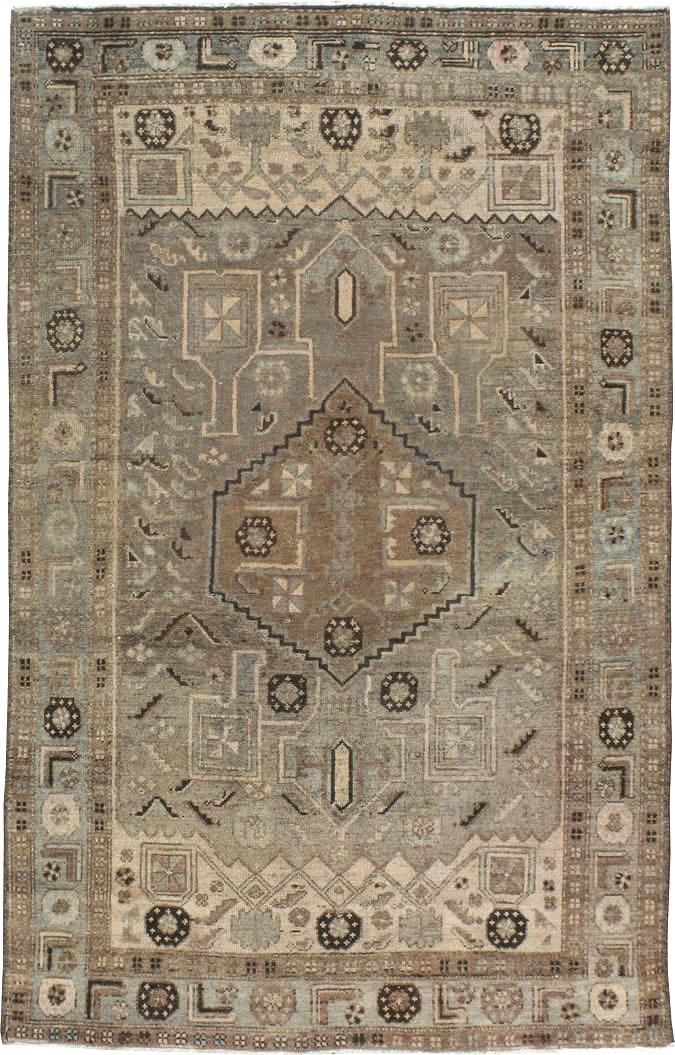 Vintage Persian Malayer Rug No 21366