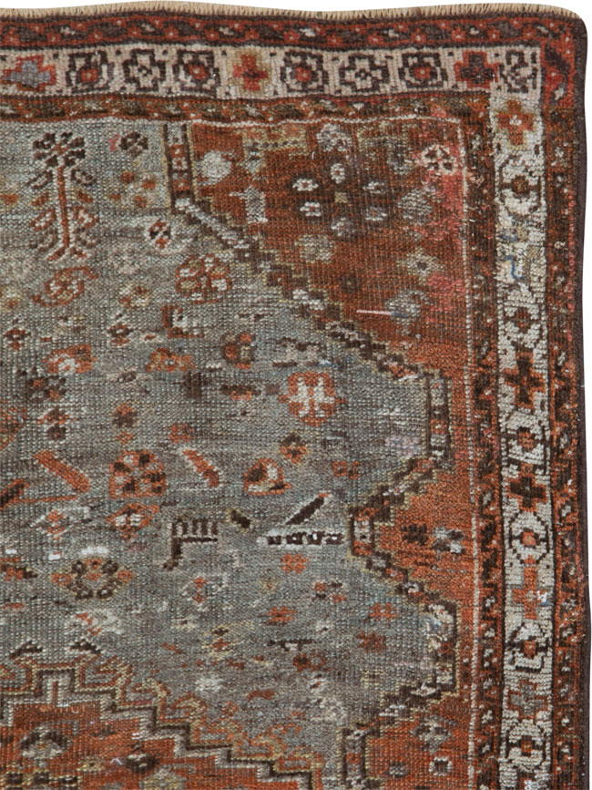 Antique Persian Khamseh Rug, No.21530 - Galerie Shabab
