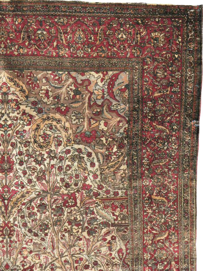 Antique Persian Silk Kashan Rug, No.22900 - Galerie Shabab
