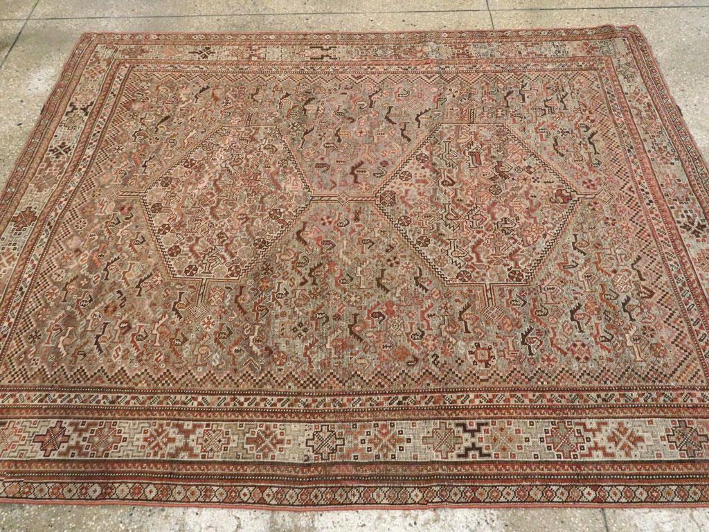 Antique Persian Khamseh Rug, No.23576 - Galerie Shabab