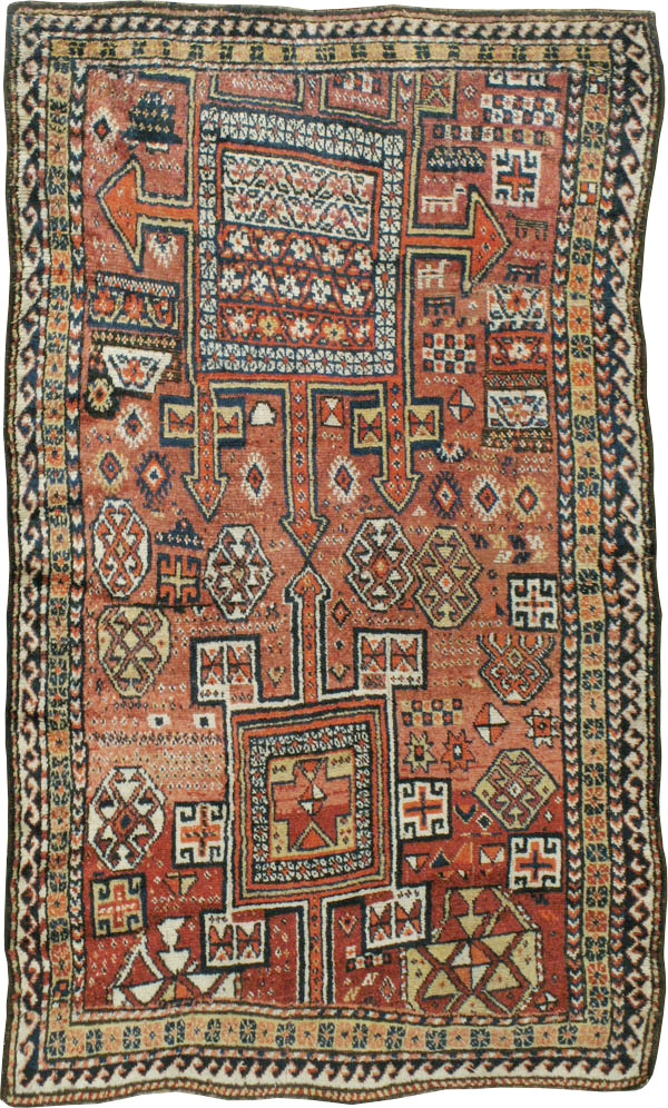 Antique Persian Kurdish Rug No 23922