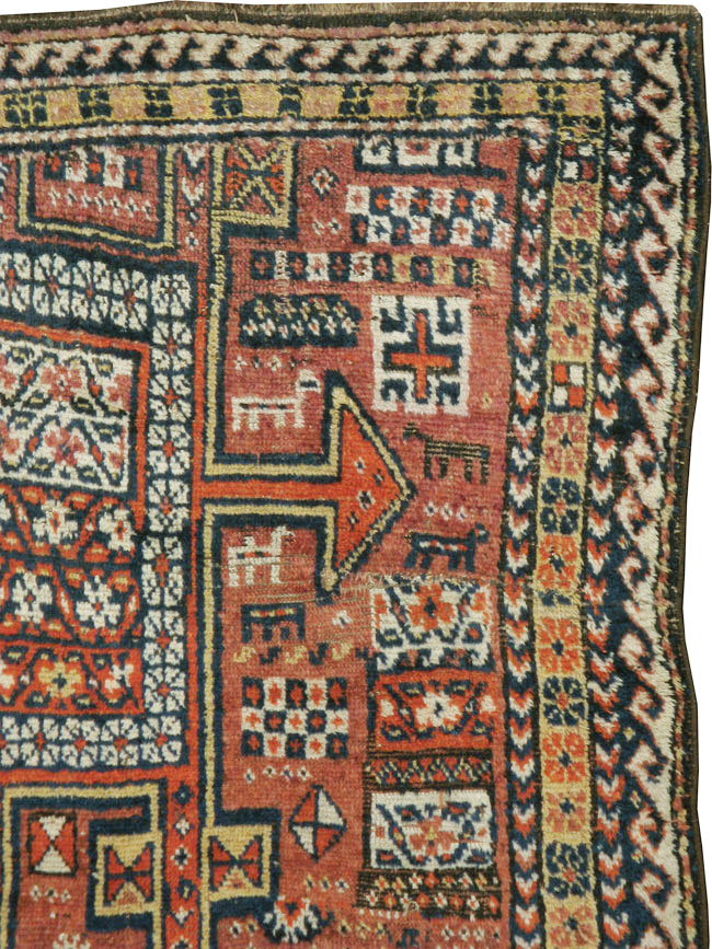 Antique Persian Kurdish Rug No 23922