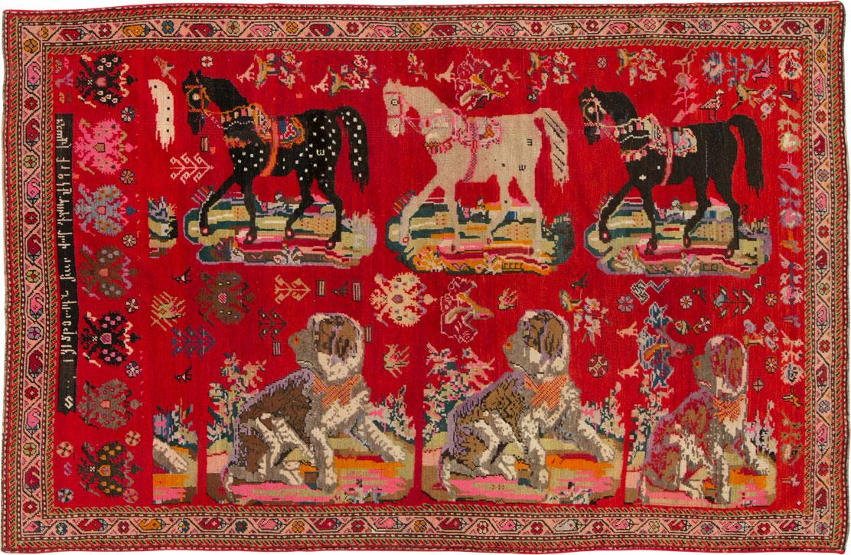 Antique Karabagh Rug, No.24487 - Galerie Shabab