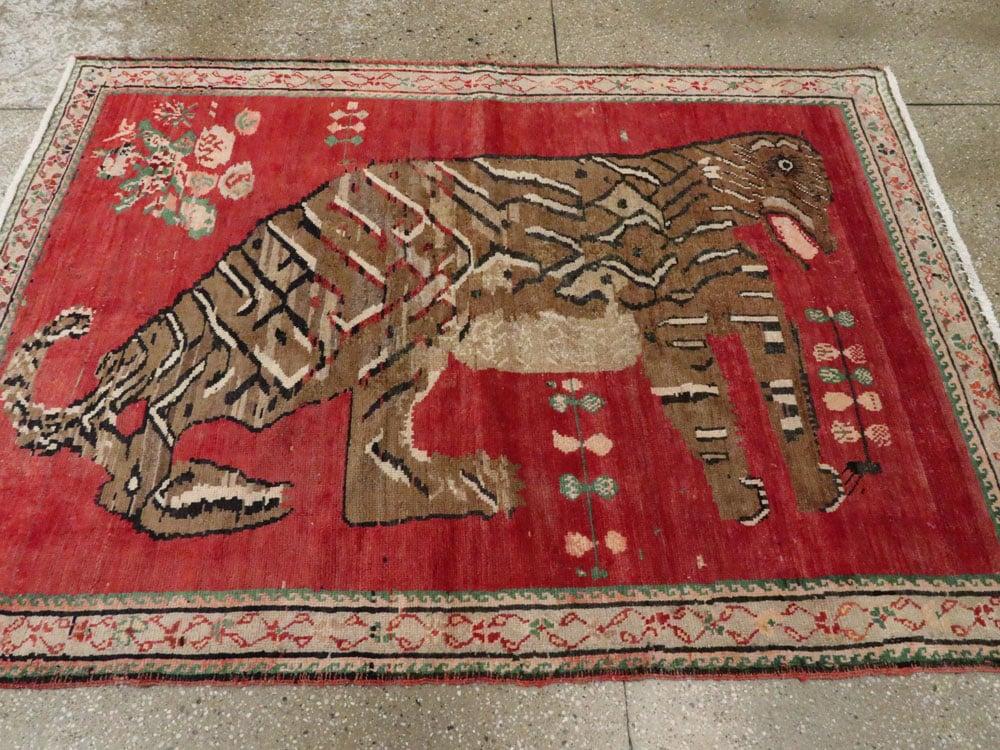 Antique Caucasian Karabagh Pictorial Rug, No.24589 - Galerie Shabab