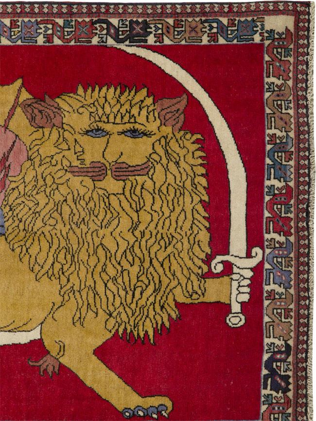 Vintage Shiraz Pictorial Rug, No.25028 - Galerie Shabab