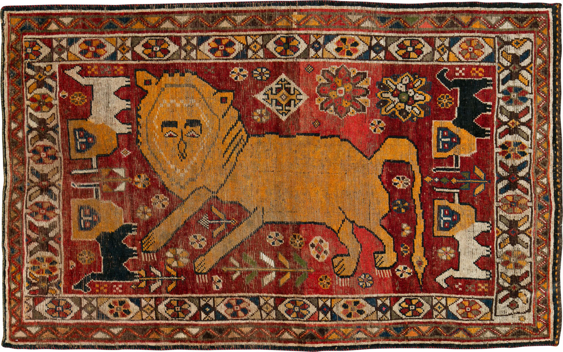 Vintage Persian Gabbeh Rug, No.25257 - Galerie Shabab