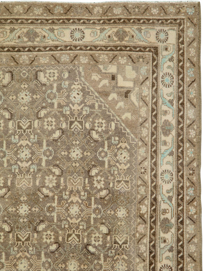 Vintage Persian Malayer Runner, No.25309 - Galerie Shabab