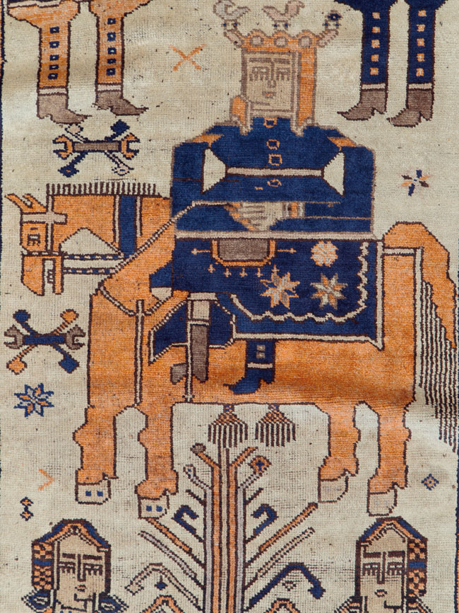 Vintage Bakhtiari Pictorial Rug, No.25561 - Galerie Shabab