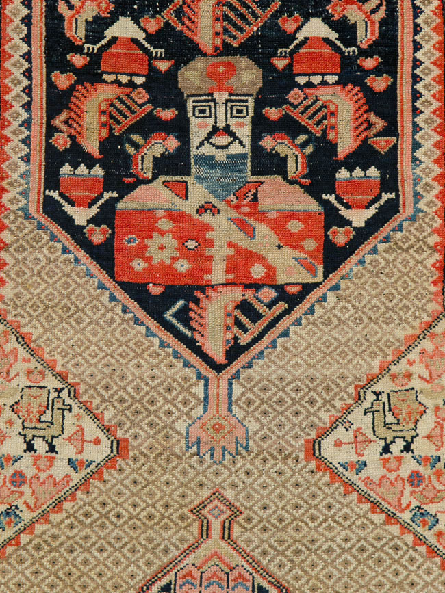 Antique Persian Malayer Pictorial Rug, No.25572 - Galerie Shabab