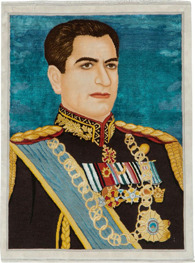 Vintage Tabriz Pictorial Rug, No.25670 - Galerie Shabab
