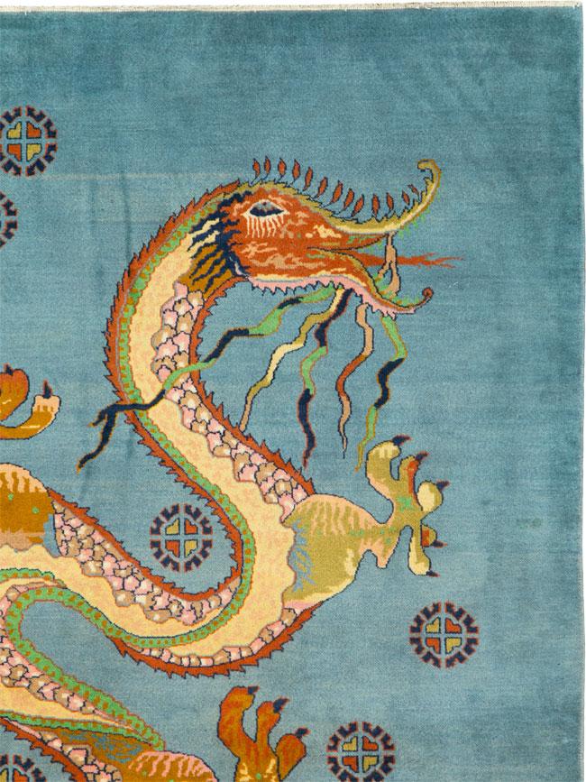 Vintage Persian Mashad Pictorial Rug, No.25698 - Galerie Shabab