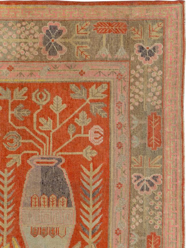 Antique Khotan Rug, No.25875 - Galerie Shabab