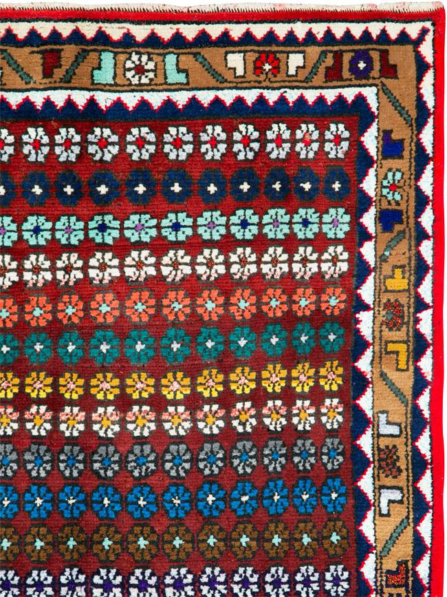Vintage Persian Mahal Runner, No.26230 - Galerie Shabab