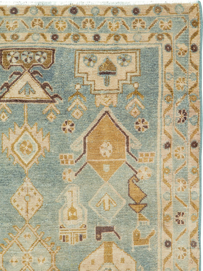 Vintage Persian Malayer Throw Rug, No.26909 - Galerie Shabab
