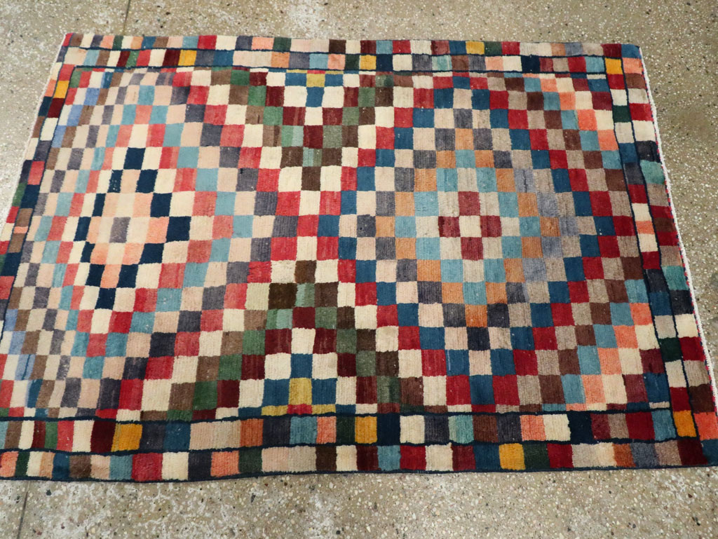 Vintage Persian Gabbeh Rug, No.27110 - Galerie Shabab