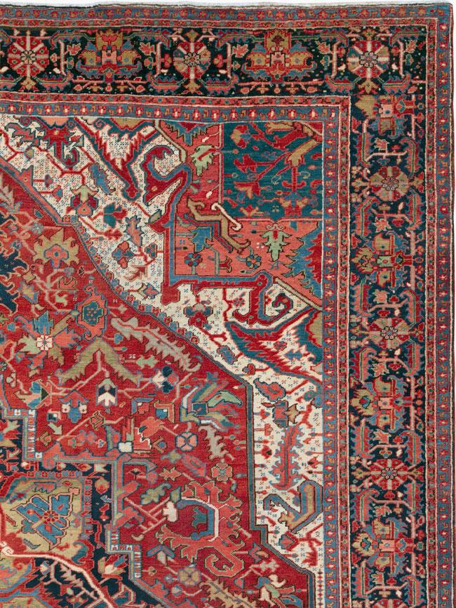Antique Persian Heriz Carpet, No.27299 - Galerie Shabab