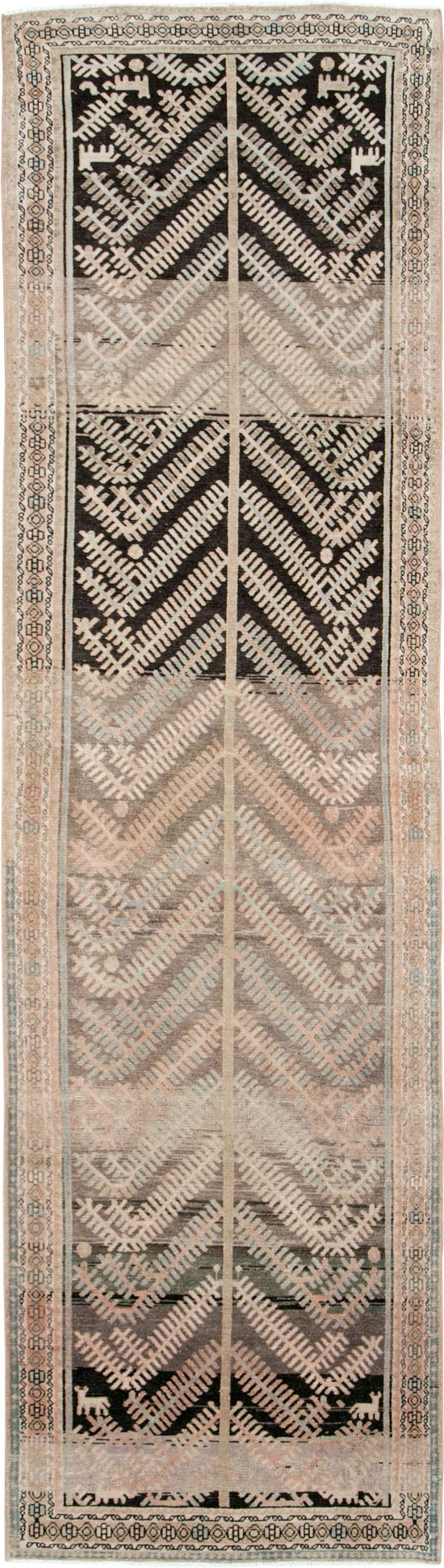 Vintage Persian Malayer Runner, No.28708 - Galerie Shabab