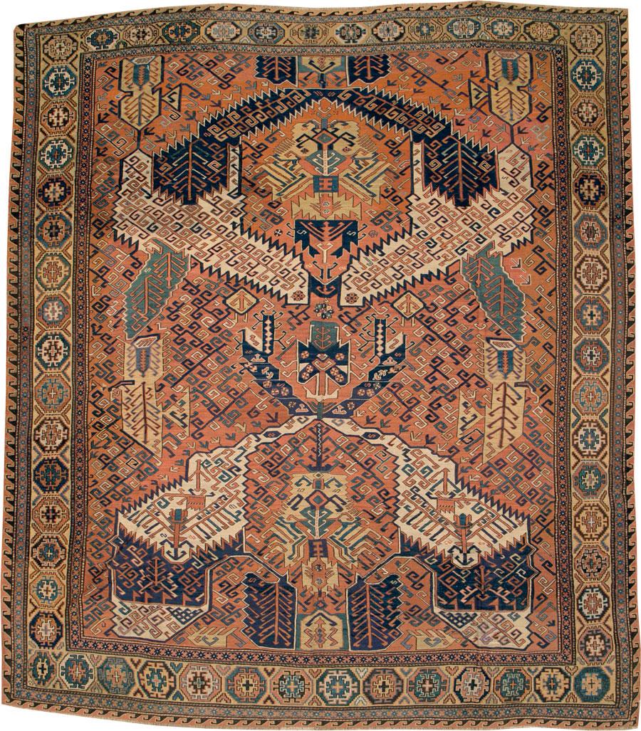 Antique Caucasian Soumak Carpet No 8894