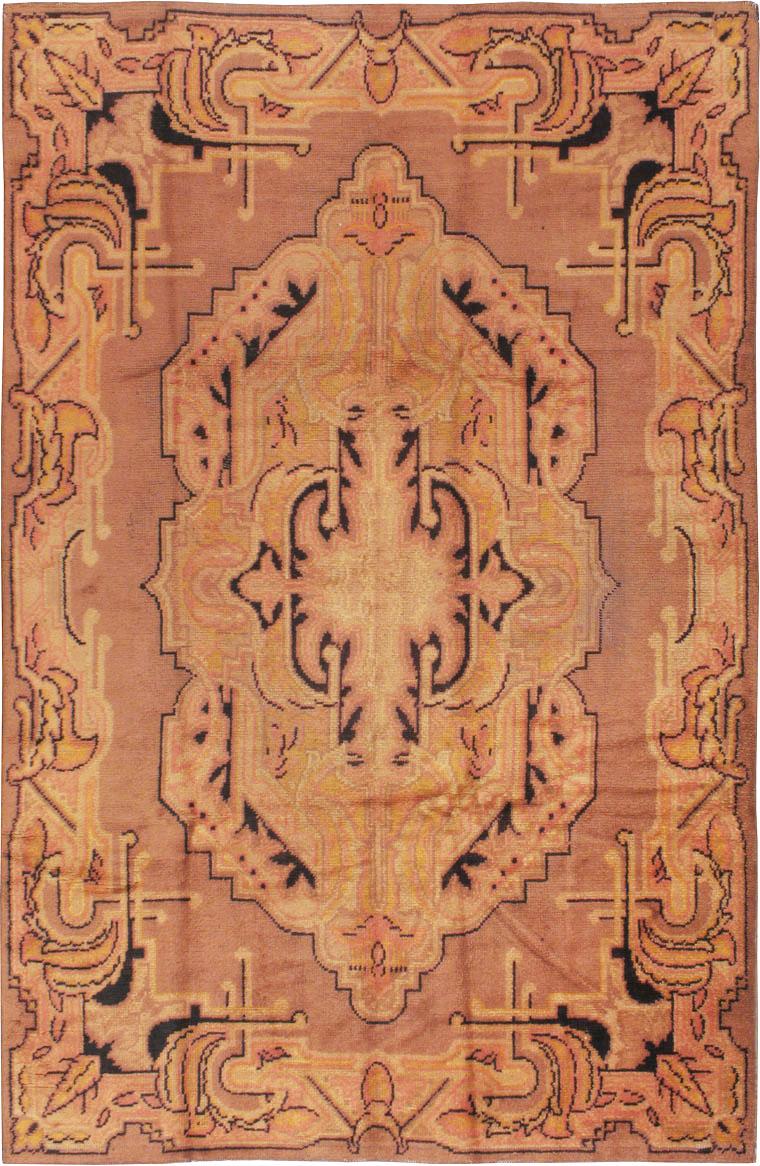 Antique European Art Deco Carpet, No.8907 - Galerie Shabab