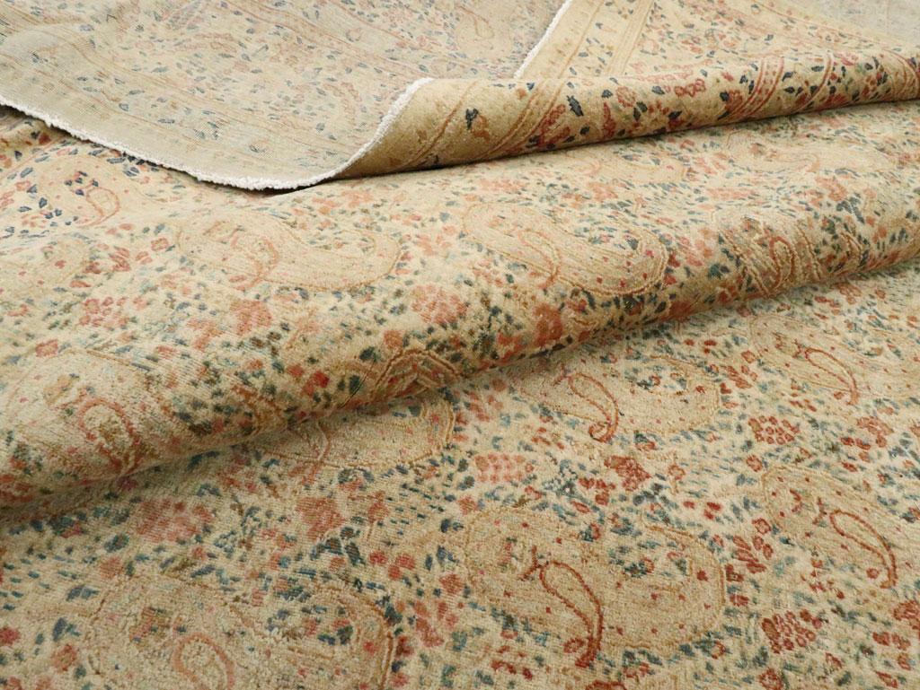 Antique Persian Kerman Square Carpet, No.9939 - Galerie Shabab