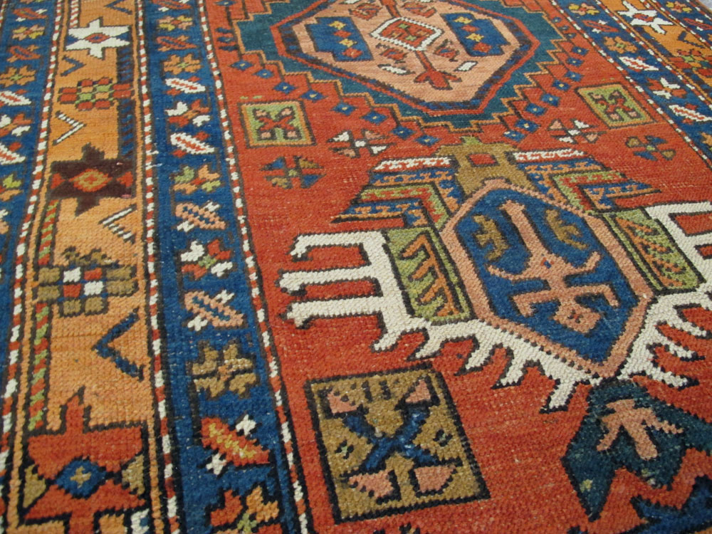 Antique Persian Heriz Runner, No.9961 - Galerie Shabab
