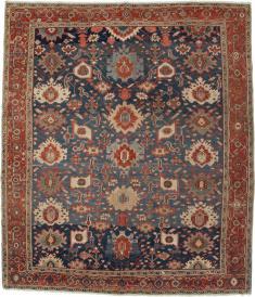 Antique Persian Heriz Square Rug, No. 11600 - Galerie Shabab