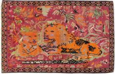 Antique Karabagh Pictorial Rug, No. 11857 - Galerie Shabab