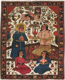 Vintage Bakhtiari Pictorial Rug, No. 11862 - Galerie Shabab