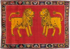 Vintage Gabbeh Pictorial Rug, No. 11882 - Galerie Shabab