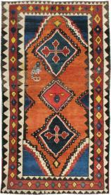 Antique Gabbeh Rug, No. 11948 - Galerie Shabab