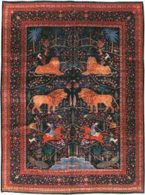 Antique Mashad Pictorial Carpet, No. 11990 - Galerie Shabab