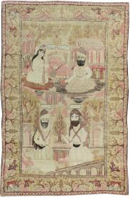 Antique Kerman Pictorial Rug, No. 12156 - Galerie Shabab