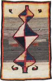 Antique Gabbeh Rug, No. 12182 - Galerie Shabab