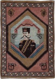 Antique Hamadan Pictorial Rug, No. 12188 - Galerie Shabab