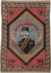 Antique Hamadan Pictorial Rug, No. 12189 - Galerie Shabab