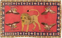 Vintage Gabbeh Souf Rug, No. 12195 - Galerie Shabab