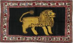 Vintage Gabbeh Pictorial Rug, No. 12256 - Galerie Shabab