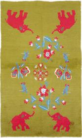 Vintage Anatolian Pictorial Rug, No. 12293 - Galerie Shabab
