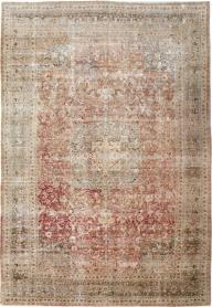 Vintage Distressed Mashad Carpet, No. 12732 - Galerie Shabab